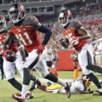 Buccaneers vs Redskins injury report.