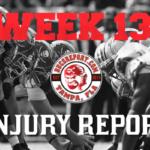 Buccaneers vs Panthers Injury Report