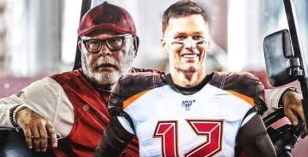 Tom Brady and Bruce Arians