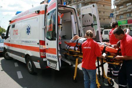 Motociclist ranit in urma unui GRAV accident in zona bulevardului Steaua!