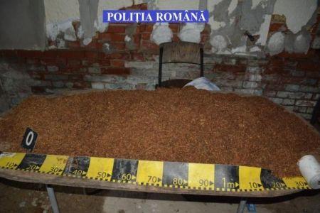 Fabrica ilegala de tigari descoperita in subsolul unui bloc din Bucuresti! Afacerea era a sefului de asociatie!