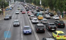 Colana de masini ajunge pana la Saftica! Trafic INFERNAL din cauza benzii unice pentru autobuze pe soseaua Bucuresti-Ploiesti!
