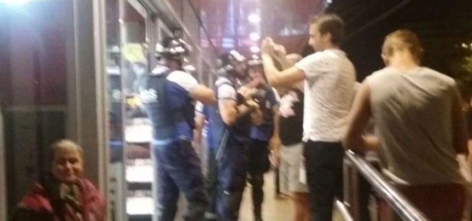 VIDEO – Bataie intr-un magazin din centrul Bucurestiului! Un soldat american a fost lovit cu o sticla in fata!