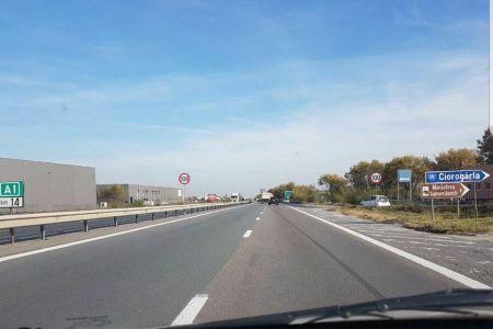 Politia Rutiera a scazut limita de viteza la intrarea in Bucuresti