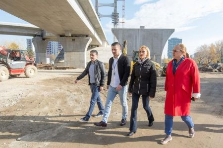 Gabriela Firea s-a dus in inspectie pe santierul Pasajului Ciurel si da asigurari ca anul acesta va fi gata! Trebuia inaugurat in 2014…