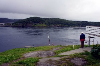 Grandpa Terje looking out over the tumultuous waters