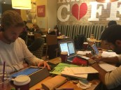 Studying with Skjalg and Edu at Costa