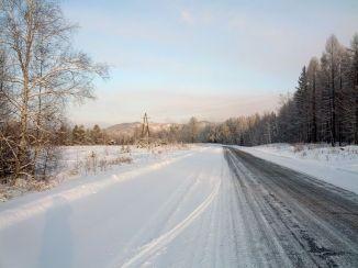 """Дорога """"Улан-Удэ - Курумкан"""" зимой"""