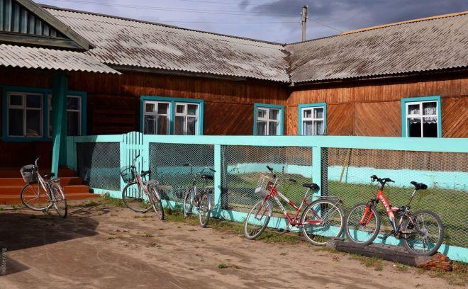 Велосипедная парковка в Усть-Баргузине