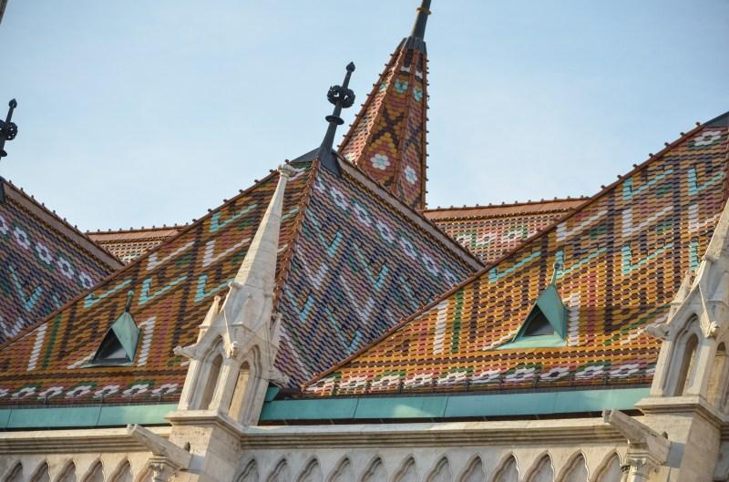 zsolnay roof tiles on matthias church