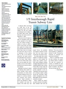 Article on the reconstruction of the New York City subway line following the terrorist attacks on September 11, 2001.