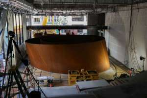 San Francisco Chronicle article about the installation of Richard Serra's Sequence at the San Francisco Museum of Modern Art featuring an interview with one of BUDCO's Master Riggers.