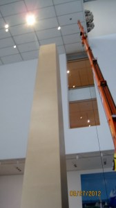 De-installation of Sweet Violence at MoMA.