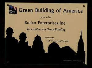 For excellence in green building.