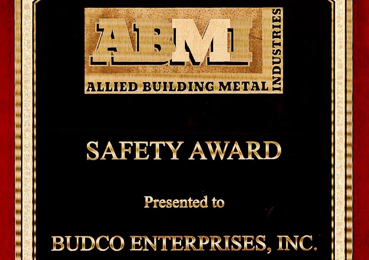 budco's abmi safety award