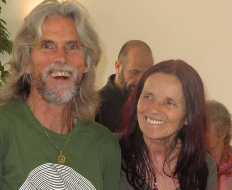 "A & A during ""Conscious Touch ~ Joyful Voice"" Retreat with Peter & Aneeta Makena {that's Bhaskar behind us}"