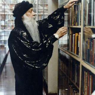 Osho in his Library in Pune, India. Anasha and I used to love being in this space... it has an amazing energy