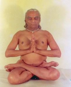 BKS Iyengar in Padmasana, or full lotus