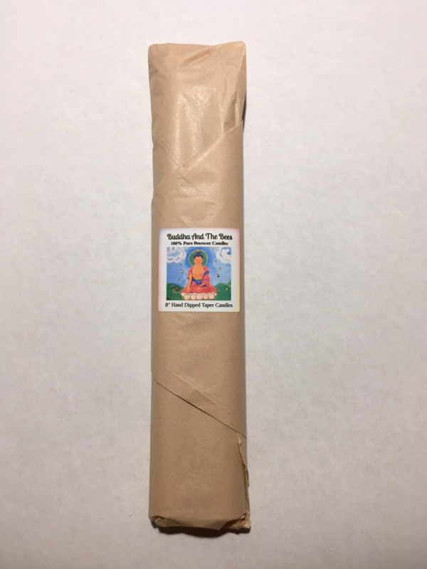 Buddha And The Bees 100% Pure Beeswax Hand Dipped Taper Candles