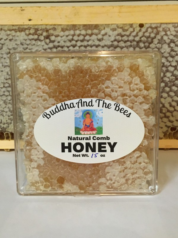 Buddha And The Bees Comb Honey 4x4 box