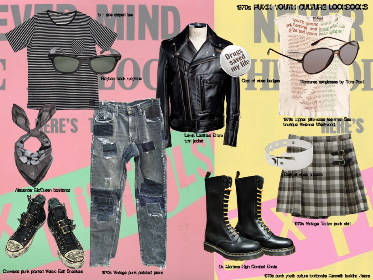 1970s punk youth culture and fashion look book