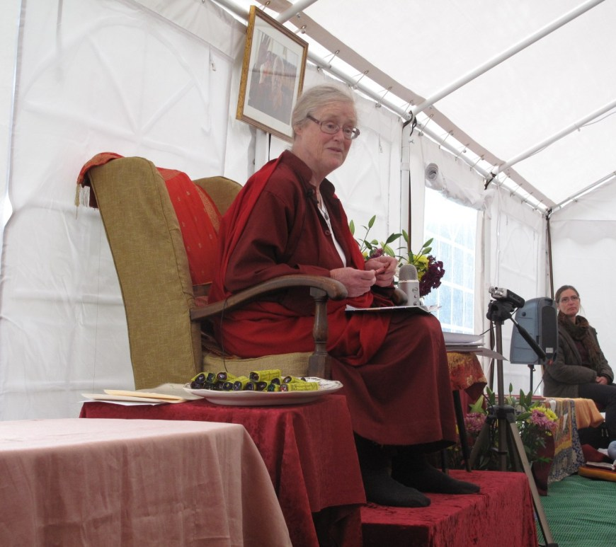 Lama Shenpen Hookham Female British Tibetan Buddhist Teacher