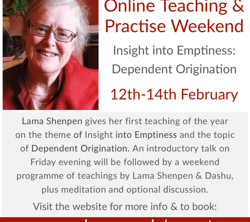 Lama Shenpen teaching Emptiness Dependent Origination Tibetan Buddhism