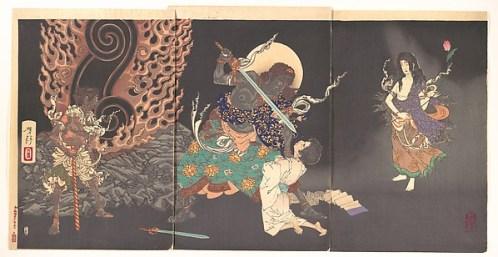 Fudō Myōō Threatening a Novice