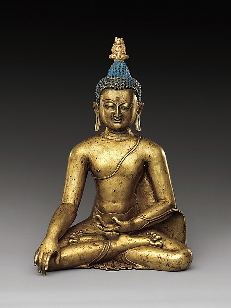 Seated Buddha Reaching Enlightenment, Central Tibet, 11th–12th century © Metropolitan Museum of Art