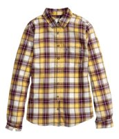 plaid button-down, $7.50
