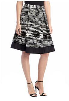 Vince Camuto Broken Branches Pleated Midi