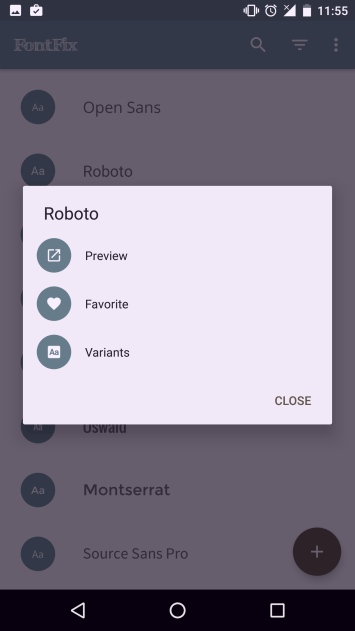 Roboto font android