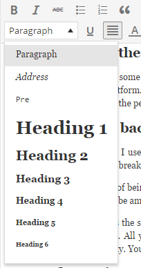 heading tags wordpress