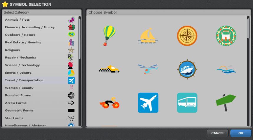 adding symbols in onlinelogomaker