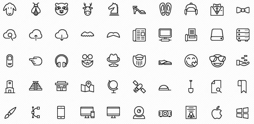 preview - iOS vector icons