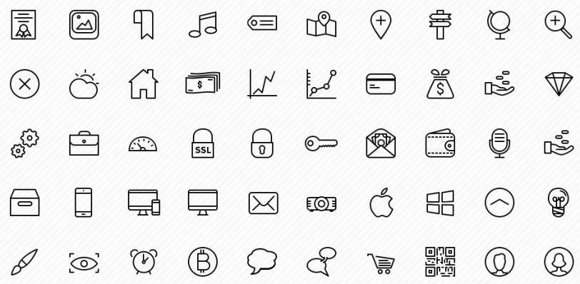 preview - sketch vector icons