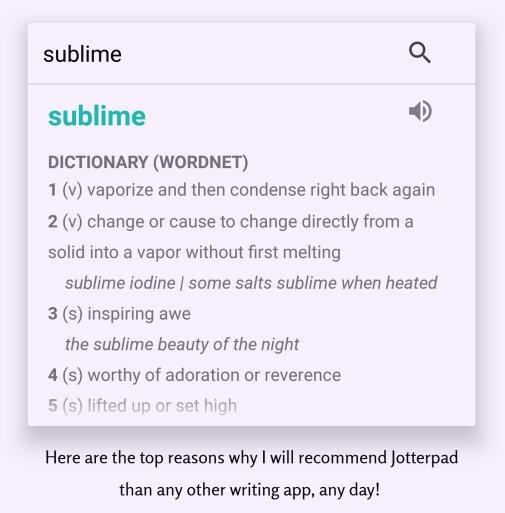 jotterpad dictionary