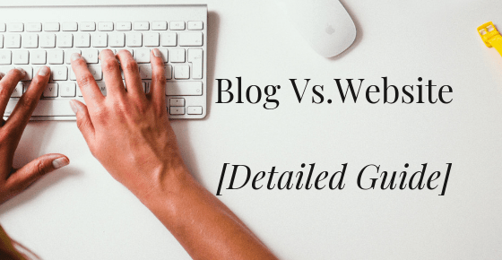 Blog vs. website - Featured image