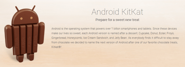 Android KitKat Official Website