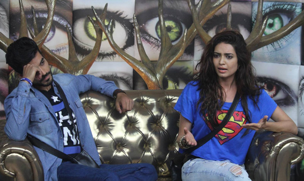 Gautam Gulati and Karishma Tanna in a task