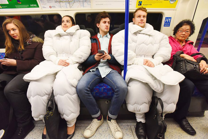 Do you love to sleep anywhere, anytime Check this suit.