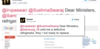 Sushma Swaraj's Twitter Response to the man who wanted his fridge fixed!