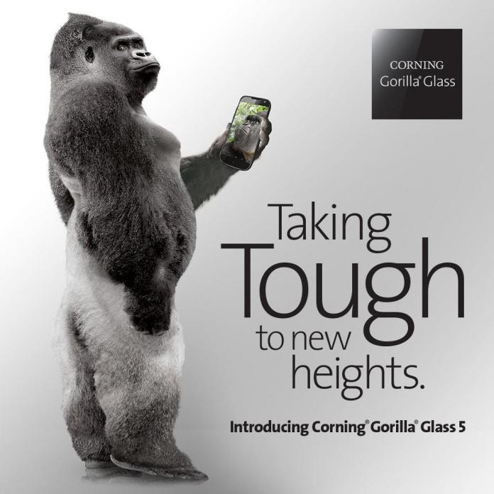 Gorilla Glass 5, Taking the toughness to new heights, Corning Unveiled Gorilla Glass 5