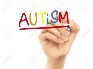autism word written by hand