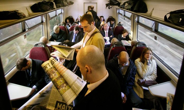 commuters on an overcrowd