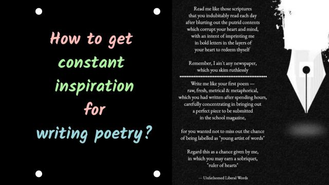 How to get constant inspiration for writing poetry?