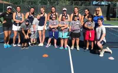 Women's Tennis Volunteers With Buddy Up Tennis