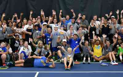 Swim and Racquet Club Embraces Buddy Up Athletes Via Benefit Clinic