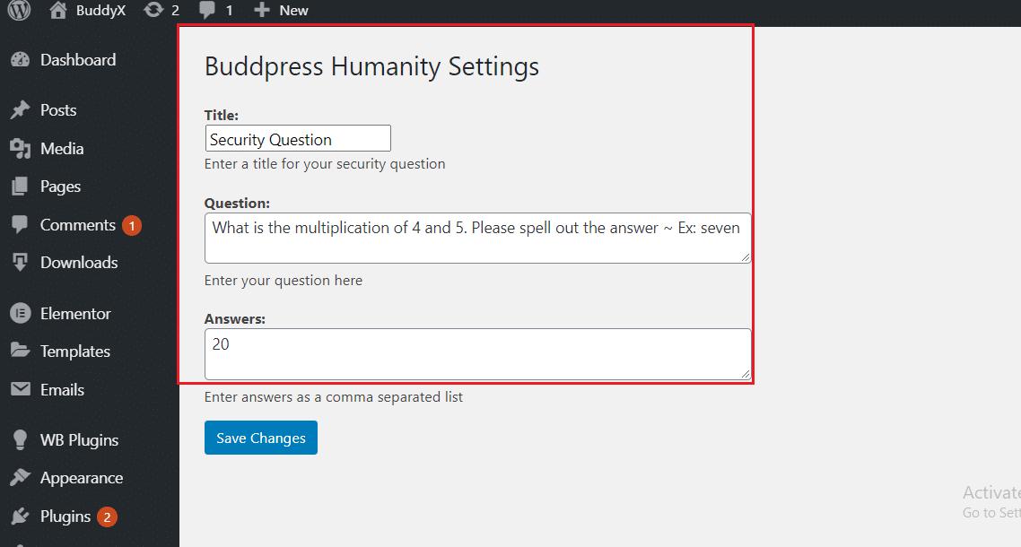 bp spam security