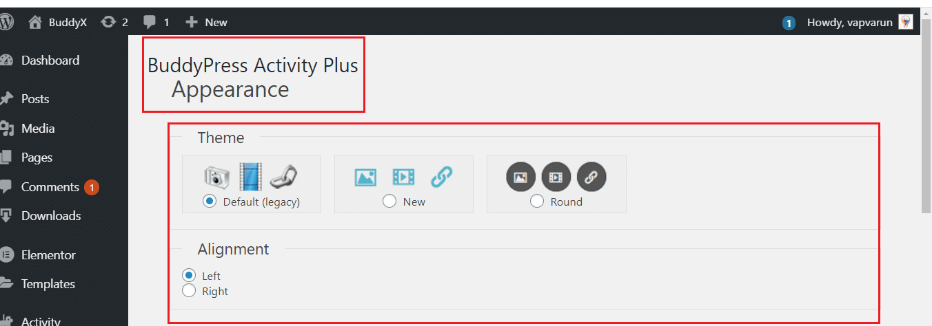 bp activity plus plugin